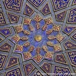 decoration-of-ceiling-mausoleum-samarkand-uzbekistan